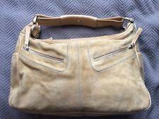 Women's Tod's beige suede handbag