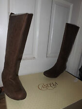 Candela Womans Classic Dark Brown Leather Boots New 8.5