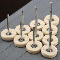 "1/"" Hard Felt Polishing Wheel Buffing Pad for Rotary Tools 20PC A LOT 3MM Shank"