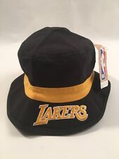 LA LOS ANGELES LAKERS Bucket Cap Adidas Hat NBA BLACK/YELLOW S/M LEBRON NWT