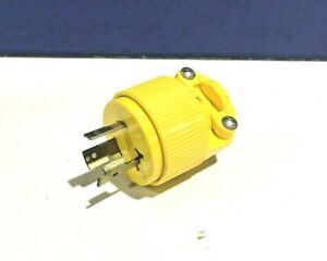 PASS & SEYMOUR NEW TURNLOK Yellow MALE PLUG 20A 125V L5-20P L520-P NEW