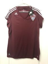 Colorado Rapids MLS adidas CLIMALITE Burgandy Soccer Jersey Women's XL NWT