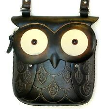 Handmade Leather Round Eye Owl Pouch