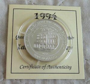 FIJI 1994 CLARENCE HOUSE $5 SILVER PROOF - coa