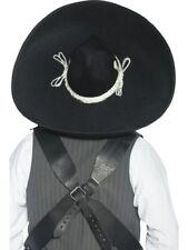 Authentischer Mexikanischer Banditen-Sombrero Schwarz