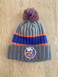 New York Islanders NHL Knit New Era Winter Hat Cap With Pom