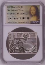 NGC PF70 France 2020 Japan Famous Painting The Hokusai Wave Silver Coin S10E COA