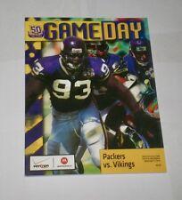 2010 GAMEDAY ! program MINNESOTA VIKINGS v Green Bay Packers JOHN RANDLE !