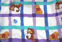 Disney's POOH & TIGGER Full Double Top Sheet Cot/Poly Blend Made USA #V-40