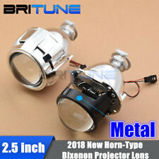 2.5 HID Bixenon Projector Lens For Car Headlight Retrofit W/ Gatling Gun Shrouds