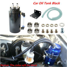 ALUMINUM HIGH CAPACITY Cylinder ENGINE OIL CATCH TANK RESERVOIR BREATHER CAN Kit