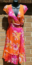 Events Collection Summer Dress Size 10 Silk Pink orange party wedding