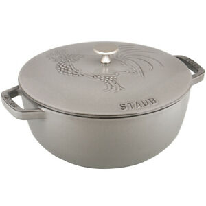 Staub Cast Iron 3.75-qt Essential French Rooster - Visual Imperfections -