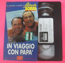 VHS film IN VIAGGIO CON PAPA' Verdone Il grande cinema ALBERTO SORDI(F107)no dvd