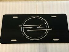OPEL LOGO Car Tag Diamond Etched on Aluminum License Plate