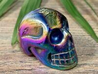 Titanium Aura Skull Crystal Skull Protection Gemstone Specimen Reiki Chakra.