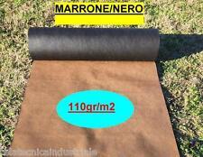 Telo in tessuto non tessuto per PACCIAMATURA pacciamante BICOLORE h.110cm x 100m