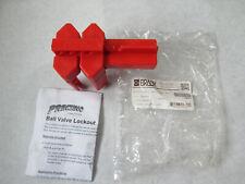 New Brady 45341 Prinzing Ball Valve Lock Out - Small Red