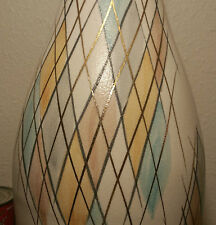 MID CENTURY MODERN spaceage atomic vtg table lamp calif ceramic art pottery