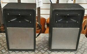 Vintage Pair of Unloaded PA Speaker Cabinets