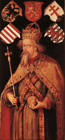 Huge Oil painting Albrecht Durer Male portrait Emperor Sigismund canvas