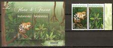 INDONESIA 2012 Mi.No. 3046 - 3049 (Block 297)  animals PLANTS 2v+1 mnh **