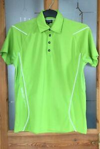 Galvin Green Neon Lime Ventil 8 Mens Polo Shirt Medium white trim smart classic