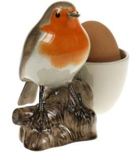 Quail Ceramics    Egg Cup With Robin