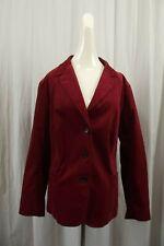 NEW Talbots Womens Blazer Jacket Plus Size 22W Coat Red Corduroy Suit Dress NWT