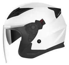 Cruizer Casco Moto Jet omologato ECE doppia Visiera Nero lucido Taglia (a4z)
