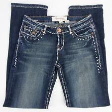 Laguna Beach Jeans Womens Size 28 28x32 ND1008SP Stitching Rhinestones
