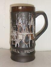 Vintage Prague Stein Mug Music Box Beautiful Medieval Design Nr