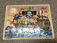 Melissa and Doug Pirate Adventure Jigsaw Puzzle 48 Pieces EUC