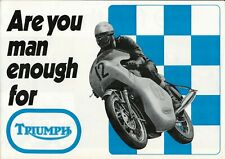 Triumph Motorcycle Brochure Bonneville Daytona TR25 Tiger Trident 1970 Old Stock