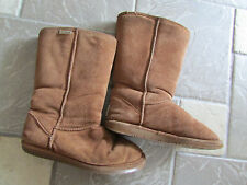 BEARPAW SUEDE FUR LINED WINTER BOOTS WOMENS 10 CHESTNUT COLOR LINED