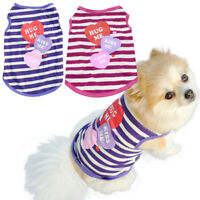 AD_ Small Pet Dog Clothes Costume Striped Vest Puppy Cat Summer T-Shirt Apparel