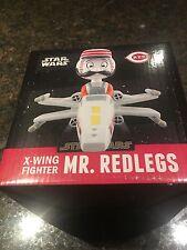 Mr Redlegs X-WING Fighter Bobblehead SGA Cincinnati REDS 5/7/16 plus GAME TICKET