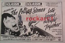 """ROLLING STONES Spend the night together film 1983 UK Press ADVERT 12x8"""""""