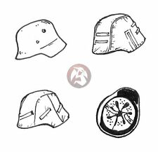 CMK 1/35 Stahlhelm German Soldier Helmets WWII (6 pieces) [Resin Acces.] B35085