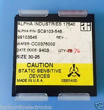 SC9103-545 ALPHA INDUSTRIES CAPACITOR CHIP RF MICROWAVE PRODUCT 76/units total