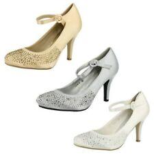 Zapatos de tacón de mujer textil de color principal blanco