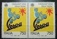 1996 Italia Coppia   50° della Vespa    750 lire  MNh**