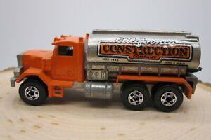 Vtg 1979 Hot Wheels Blackwall Peterbilt California Construction Truck Malaysia