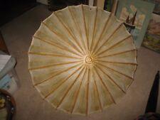 Antique Primitive Wood & Paper Umbrella with Wood Handle