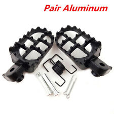 2X Motorcycle Foot Pegs Footrest 8mm Bolt for Honda CR CRF XR Kawasaki KLX110