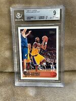 KOBE BRYANT⚡️1996-97 Topps #138 Rookie BGS 9 MINT RC🔥Lakers HOT