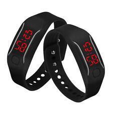 Mens Womens Silicone LED Watch Date Sports Bracelet Digital Wrist Watch A1