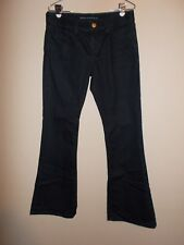 "Banana Republic Womens Size 29"" Solid Grayish Black Flare Jeans Inseam 33"""