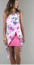 Frock And Frill Print Dress Pink Summer Holiday Beach Party Size 8 Floaty