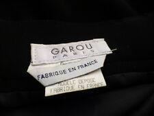 t 36-38-noire jupe de qualité griffée garou france ,doublée